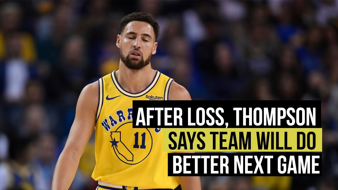 Klay Thompson promises Warriors will do better next game