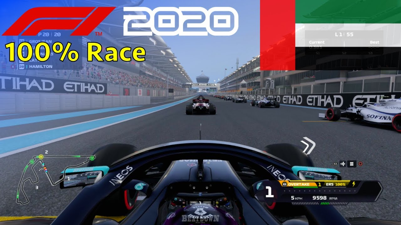 F1 2020 - Let's Make Hamilton 7x World Champion #22: 100% Race Abu Dhabi