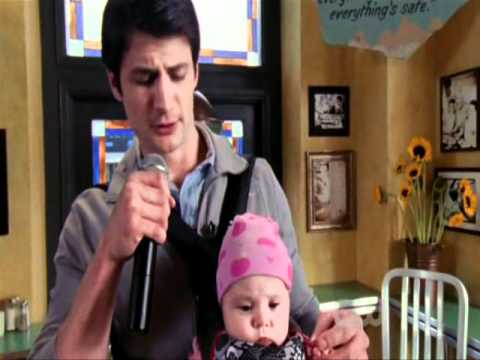 Nathan is performing with baby Lydia