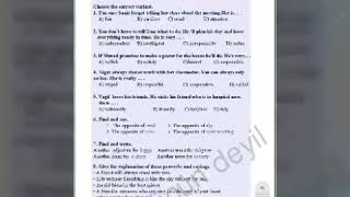7 -ci sinif ingilis dili testleri 5,6,7,8,9,10,11,12,