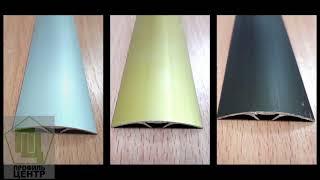 видео Алюминиевые пороги для пола разноуровневые, стыкоперекрывающие