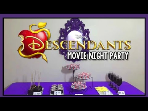 Disney Descendants Movie Night Party Villains Themed