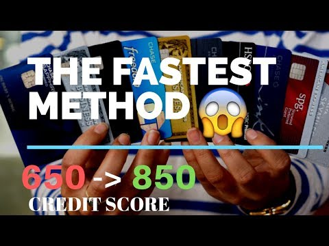 The BEST way to IMPROVE your CREDIT SCORE (850 HACK)