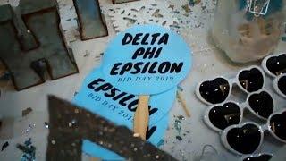 Delta Phi Epsilon Bid Day 2019 - St John's University
