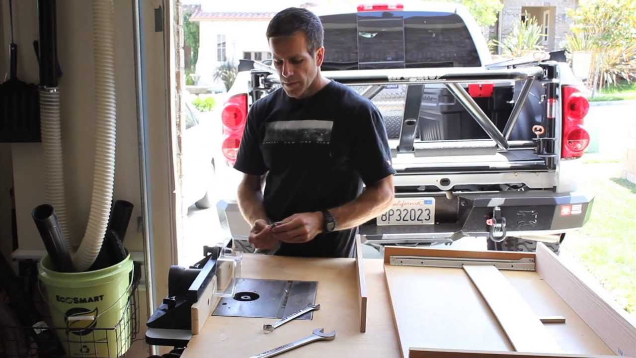 Cabinet Drawer Slide Out Shelf Build Youtube