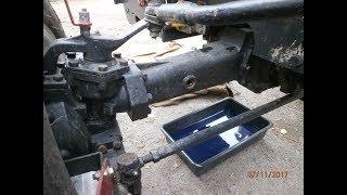 замена масла в переднем мосту мини трактор DW 244 AT