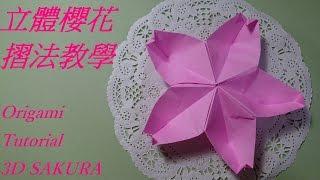 立體櫻花摺法教學 Origami  Tutorial 3D  SAKURA