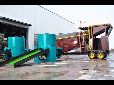 SLK-MGT200 gold trommel wash plant for Ghana