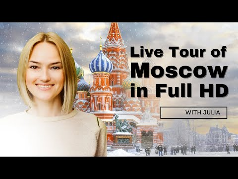 Online Real-Time Historical Tour of Moscow: Bolshoy, Red Square, Kremlin,  KGB Headquarters. Full HD
