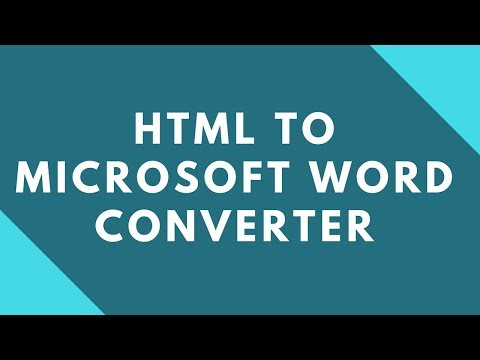 How To Convert HTML To Microsoft Word Document ?