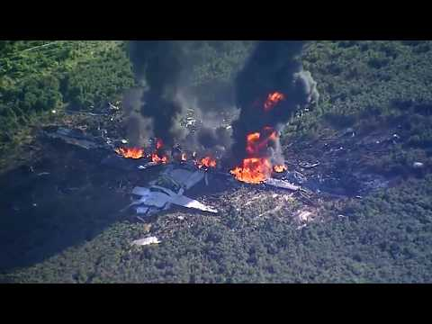 Military C 130 plane crashes in Leflore County Mississippi