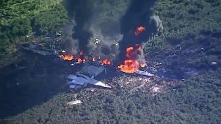بالفيديو.. تحطم طائرة عسكرية أمريكية في مسيسيبي ومقتل 16