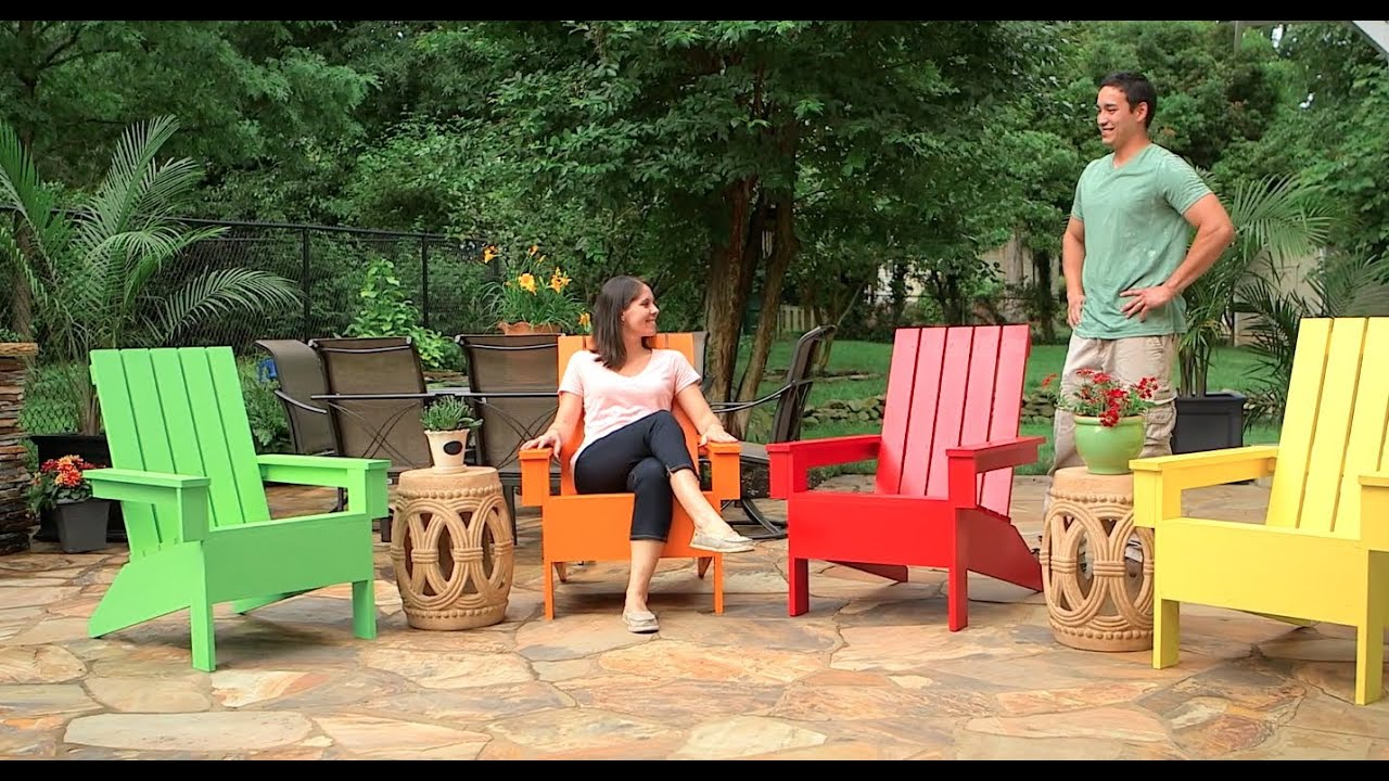 c mo construir una silla de jard n adirondack youtube. Black Bedroom Furniture Sets. Home Design Ideas