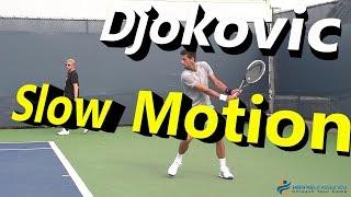 Novak Djokovic Slow Motion Forehand & Backhand (Cincinnati 2014)
