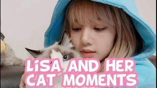 LISA PLAYING WITH HER CAT MOMENTS