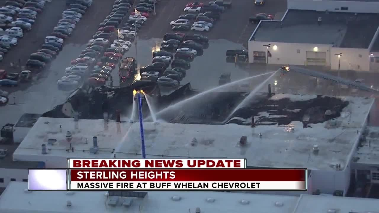 Massive Fire Rips Through Buff Whelan Chevrolet In Sterling Heights