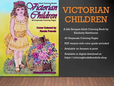 Flip Through Of Victorian Children Coloring Book For Adults