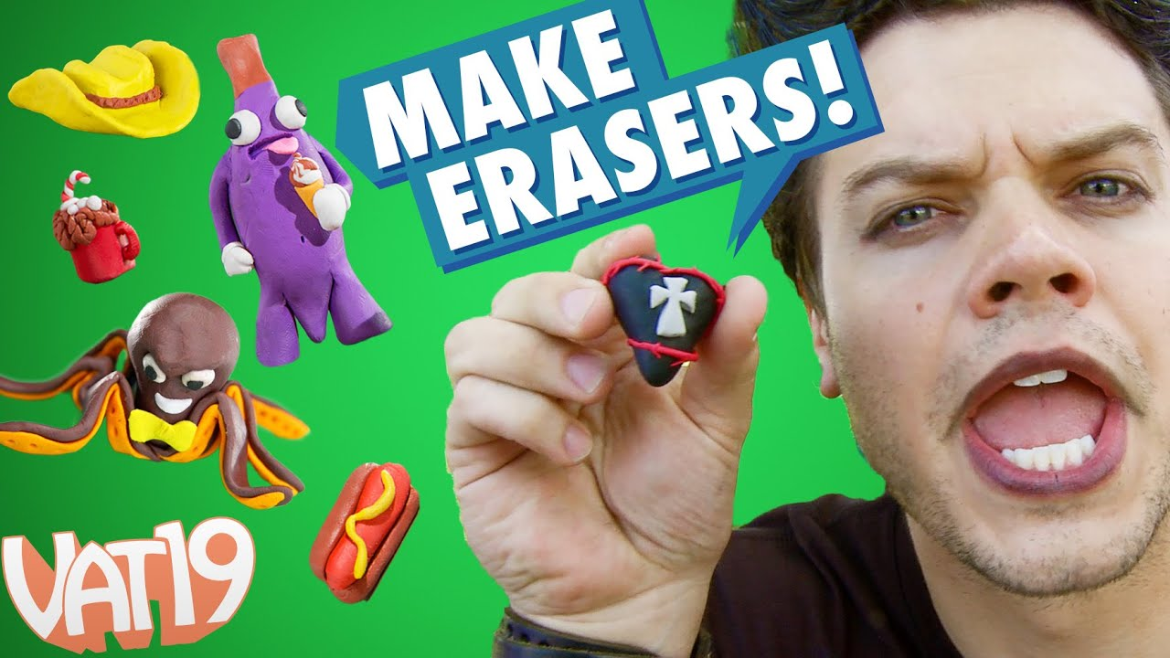 Sculpt your own Erasers from Clay
