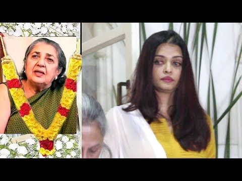 EMOTIONAL Aishwarya Rai Breaks Down Publicly At Shammi Aunty's PRAYER MEET