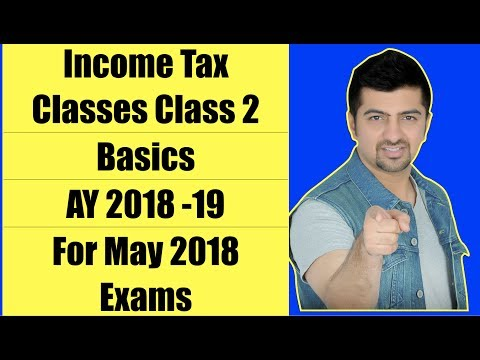 Income Tax Classes | Class 2 | Basics |  AY 2018 -19 For May 2018 Exams