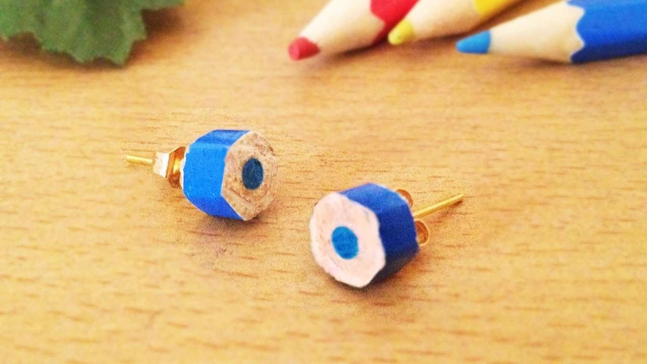 How To Make Cute Color Pencil Earrings  Diy Style Tutorial  Guidecentral