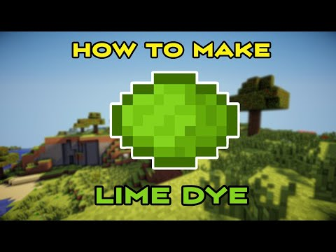 how-to-make-lime-green-dye-in-minecraft