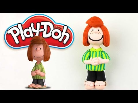 Play Doh Peanuts Peppermint Patty Funny Modeling 3D Figurine