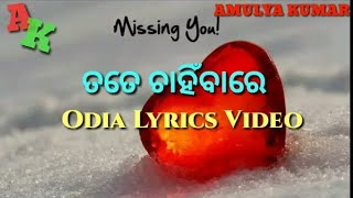 TATE CHANHIBAA RE JAO MAJA ACHI NEW ODIA LYRICS VIDEO, SINGER BISHNU MOHAN