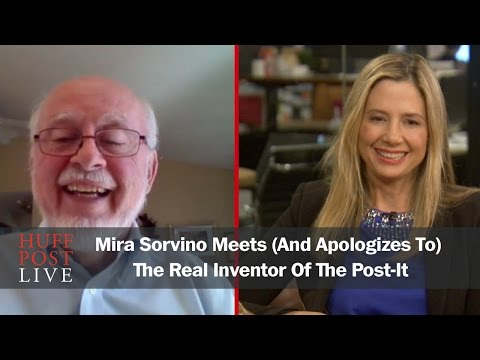 Mira Sorvino Meets (And Apologizes To) The Real Inventor Of The Post-It