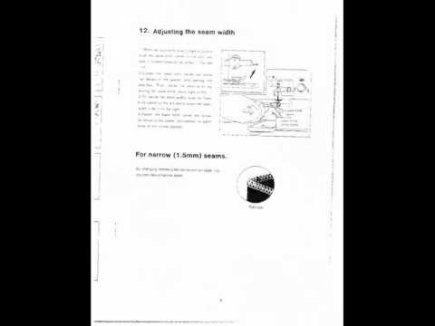 janome 434d overlocker instruction manual
