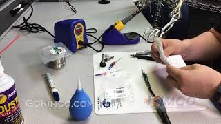 How to replace the ceramic heater in a Hakko FX888D