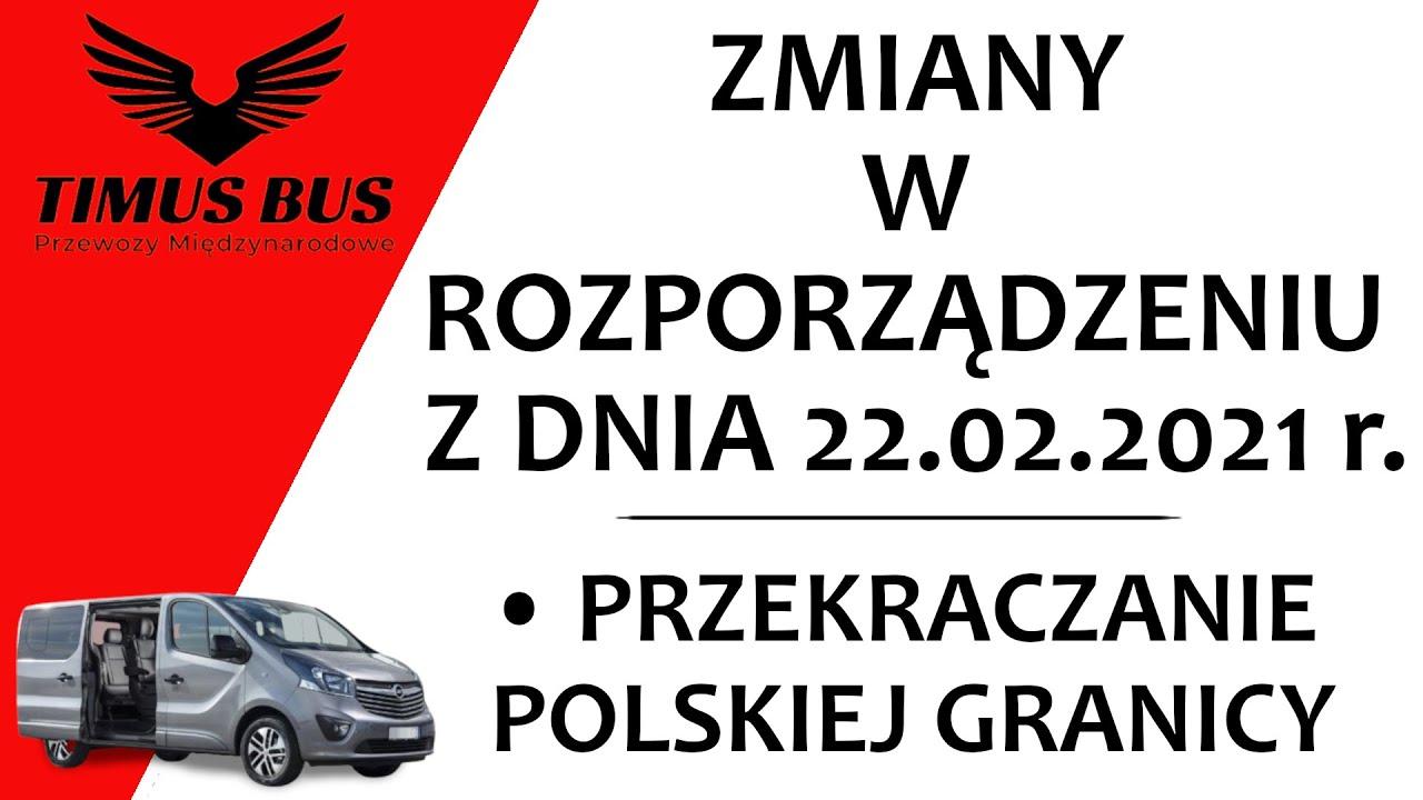 Zmiany w rozporządzeniu z dnia 22.02.2021! Czy obowiązują pasażerów podróżujących z nami?-Timus Bus