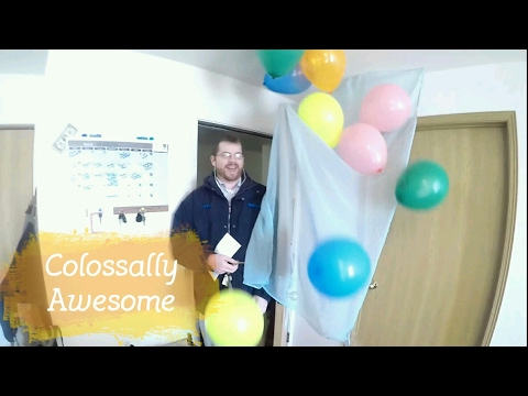 SURPRISE BIRTHDAY BALLOON DROP YouTube