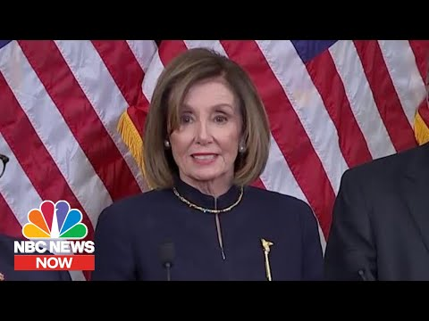 'The President Is Impeached': Pelosi Honors Elijah Cummings After Historic Vote | NBC News NOW