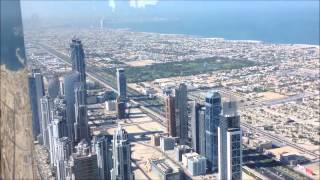 Dubai Burj Khalifa Towers, view from 124th floor