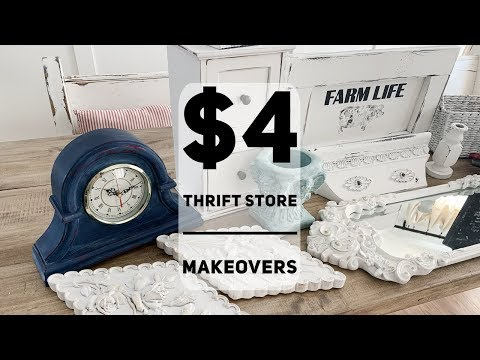 Cheap Thrift Store Makeovers   Under $4.00