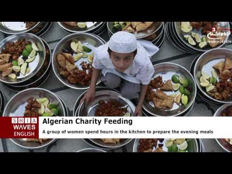 Algerian charity feeding 100s daily in Ramadan .2016/06/15