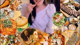 육식 먹방 브이로그 ( 우대갈비/피자/햄버거/치킨/보쌈…