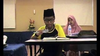 Tahsinul Quran (Andika Pramadja Ahmadjumad di bawah bimbingan Puan Hajjah Faridah Haji Mat Saman)