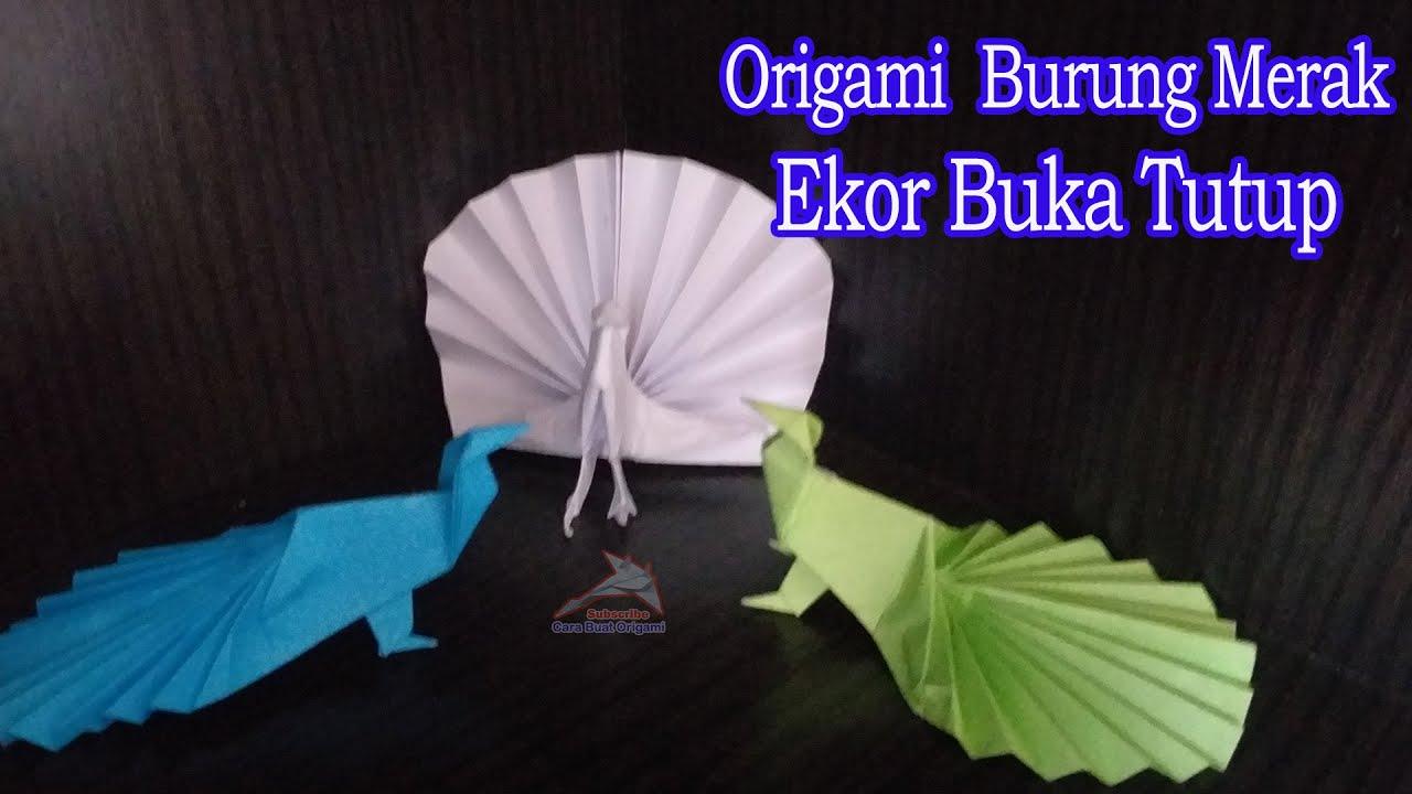 Origami Burung Merak Ekor Bisa Buka Tutup