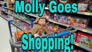 MOLLY Goes Shopping At Wal-Mart! OUTING With Talking Reborn Baby Toy Doll! Nlovewithreborns2011