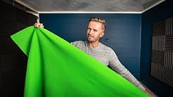 CHEAPEST GREEN SCREEN SETUP FOR YOUTUBE CREATORS