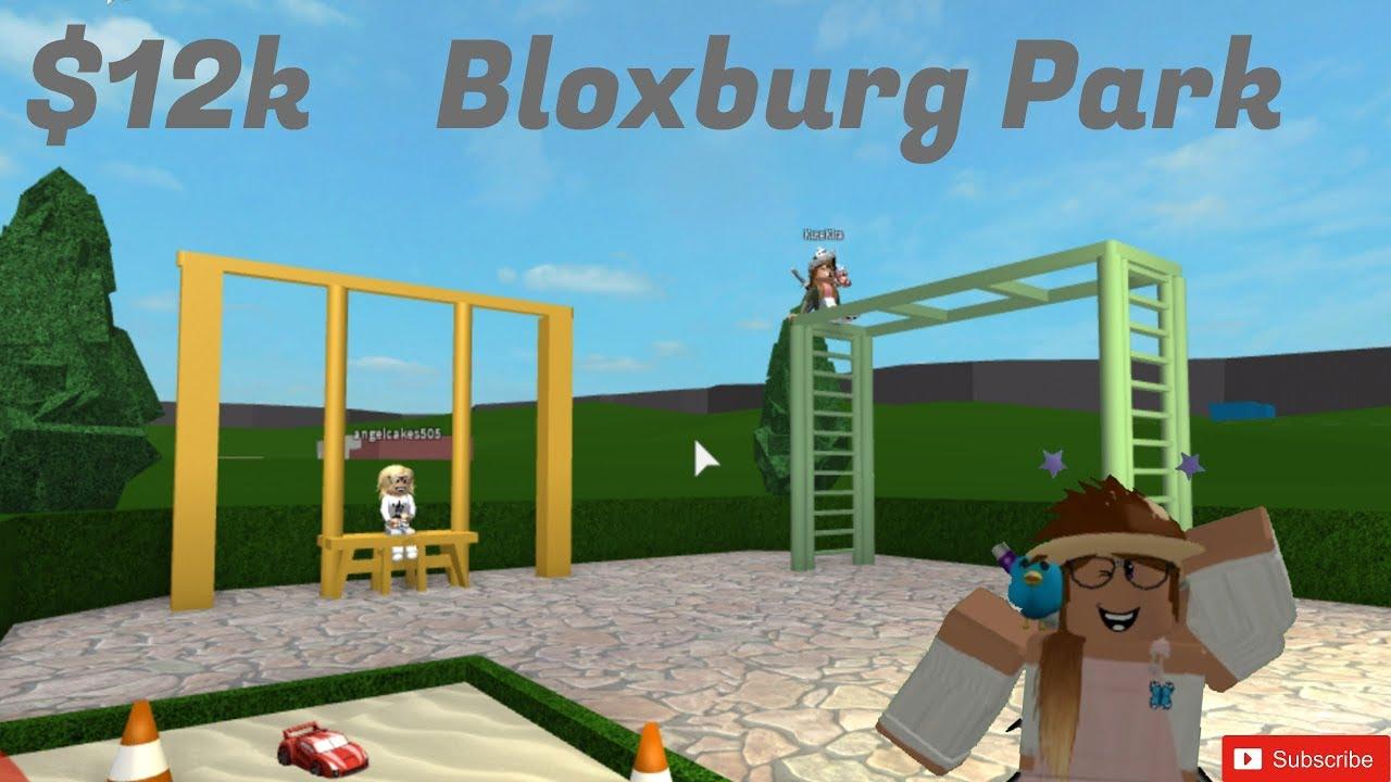 12k Bloxburg Park Build Youtube