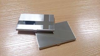 Держатель для карт с защитой. Cardholder из Китая. AliExpress. Обзор. Распаковка.