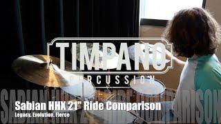 "Sabian HHX 21"" Ride Comparison: Legacy, Evolution, Fierce"