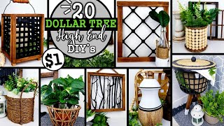 BEST $1 HIGH END DOLLAR TREE DIY'S | 20 DECOR IDEAS to TRY in 2021