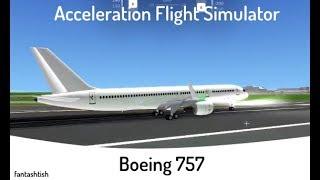 ROBLOX | Acceleration Flight Simulator Boeing-757 Flight! #1