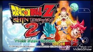 Dragon Ball Z Shin Budokai 2 God Blue Mod CSO PPSSPP On Android Mobile