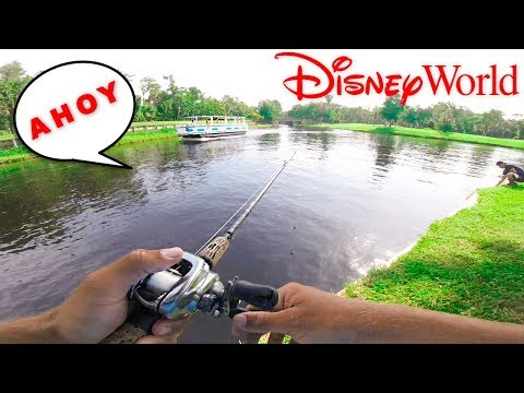 KICKED OUT OF DISNEY WORLD FOR BASS FISHING At ICAST W/ Kickintheirbasstv)