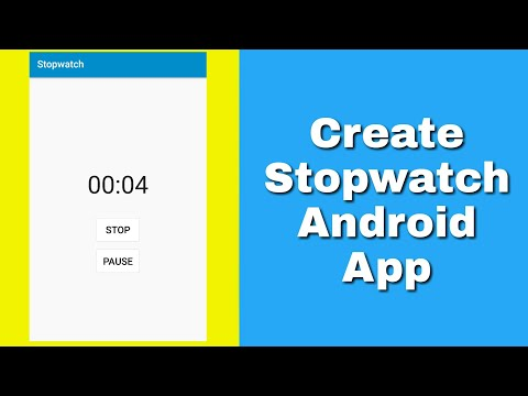 Stopwatch App In Sketchware